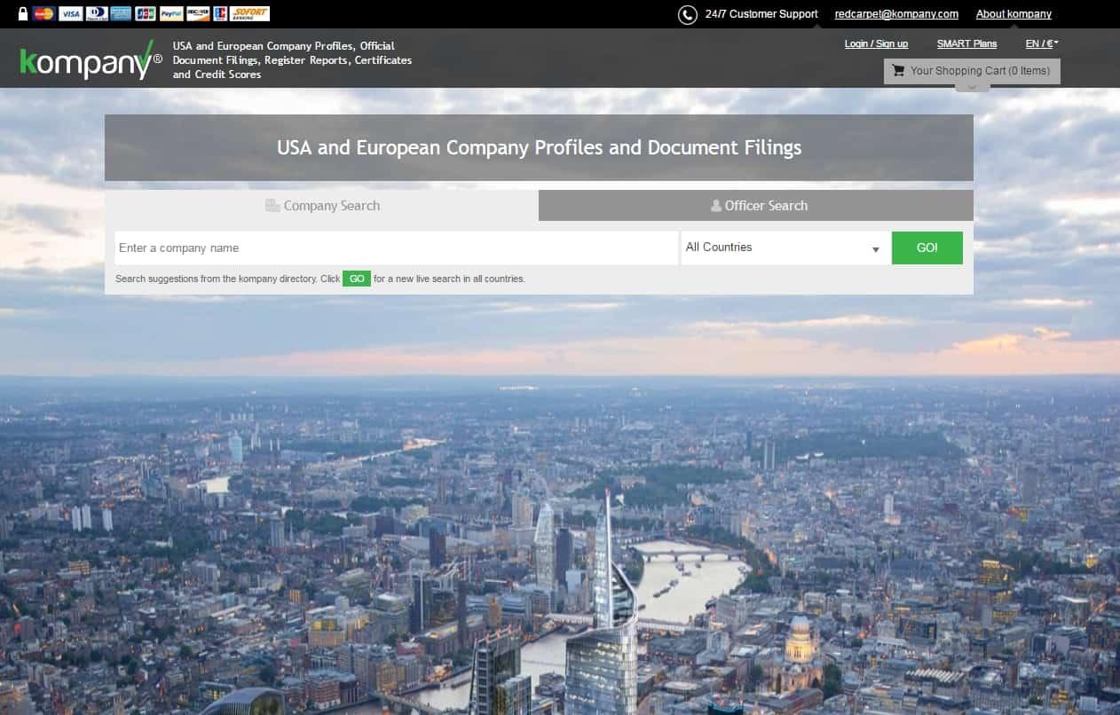 kompany com is moving information on 100 million companies onto a