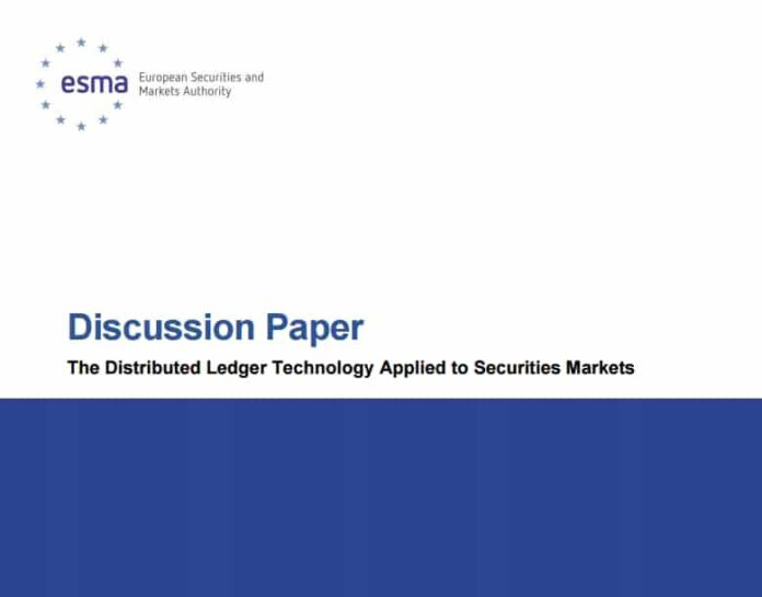 European Securities and Markets Authority (ESMA)  Reports Problems in Merging Blockchain Tech into Existing Financial Markets