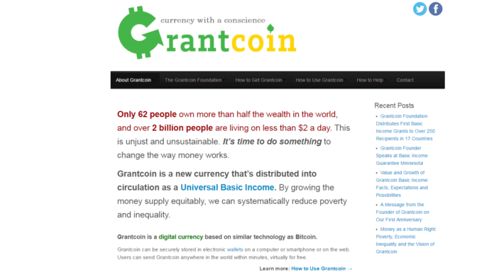 US Grantcoin Foundation Distributes First Basic Income Grants Using Blockchain to Over 250 Recipients in 17 Countries