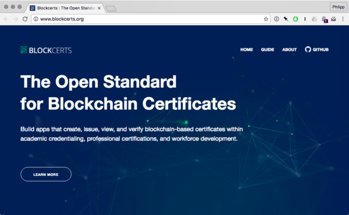 MIT Media Lab Rolls Out Blockcerts —  Open Infrastructure for Academic Credentials on the Blockchain