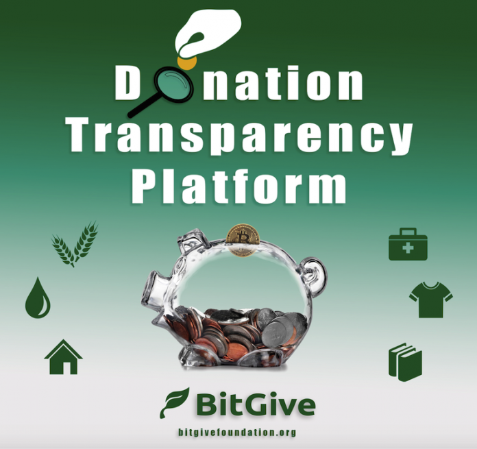 Bitgive Launches Givetrack – Blockchain Powered Platform for Tracing Donations