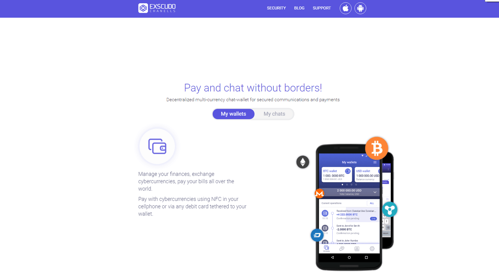 The Exscudo Channels App Is A New Mobile Wallet And Secure