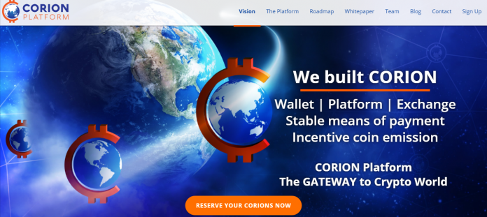 CORION Announces Final Coin Sale Details to Build its Revolutionary Platform & Stable-Rate Currency