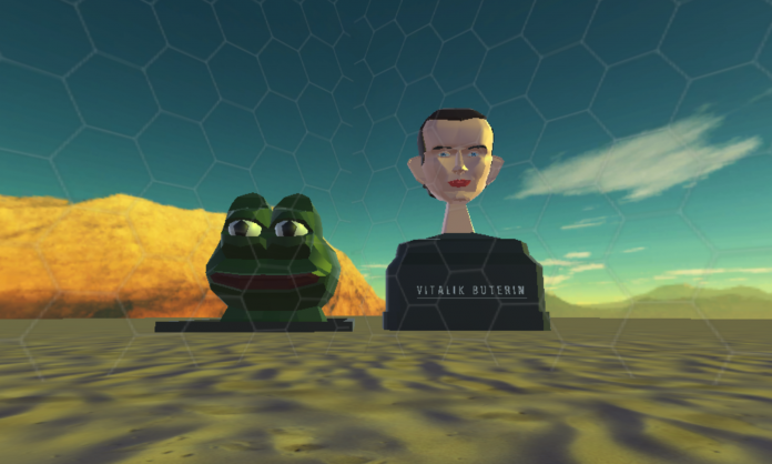 Giant Pepe and Vitalik Buterin Busts Capture Attention as  Uncensorable Art in Decentraland Alpha