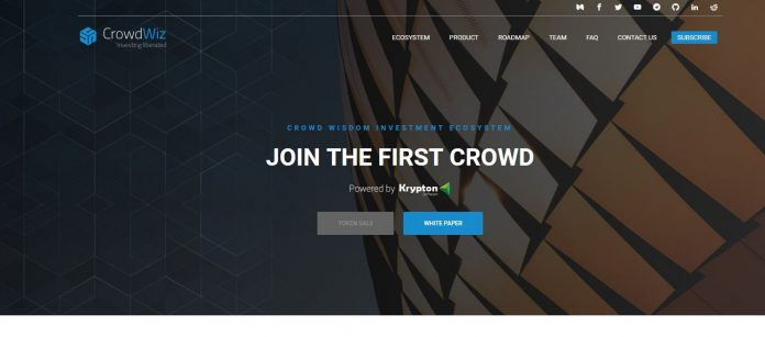 CrowdWiz successfully raises over $5 million in its pre sale to bring democracy to investing by cutting out the middleman