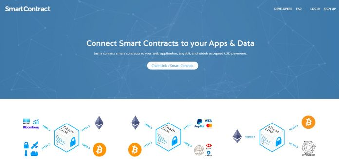 SmartContract.com, Used by SWIFT, Announces Technical Leaders as Advisors, Launches ChainLink to Connect Smart Contracts to Off-chain Data & Payments