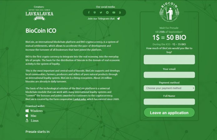 Russian-based Startup LavkaLavka Plan to Disrupt Global Eco Farming and Organic Food Retail Sector with BioCoin
