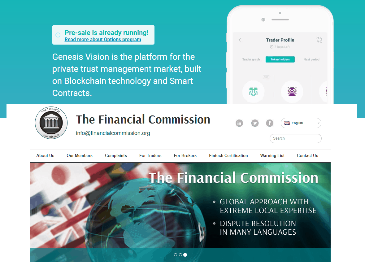 The Financial Commission Issues Certification of the <bold>Genesis</bold> <bold>Vision</bold> ICO