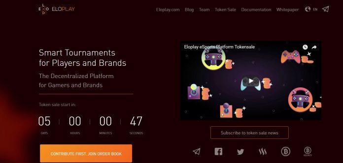 eSports Platform EloPlay to Hold a Token Sale