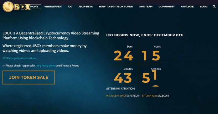 JBOX Announces Initial Coin Offering for Blockchain-Powered Decentralized Video Platform