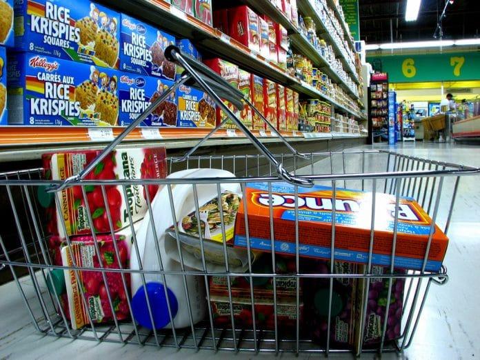 A grocery basket