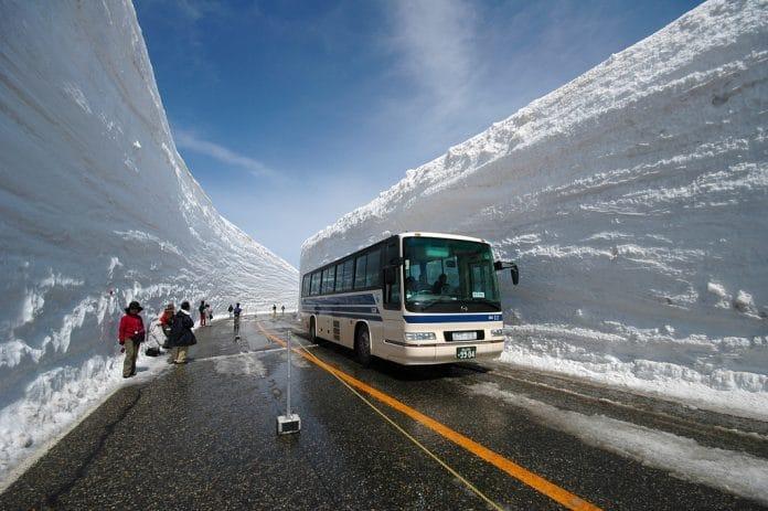 Photo of the Tateyama Snow Wall