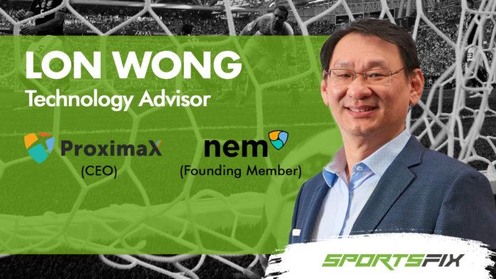 NEM Foundation's Founder Lon Wong Becomes SportsFix Chief Technology Advisor