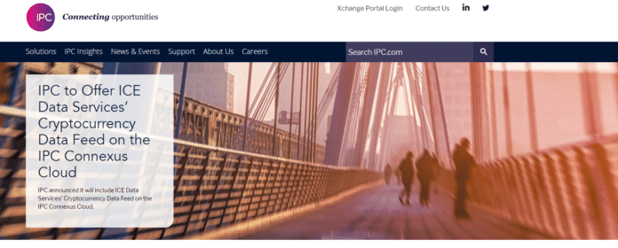 IPC to Provide ICE Crypto Feeds to over 6000 Capital Market Participants