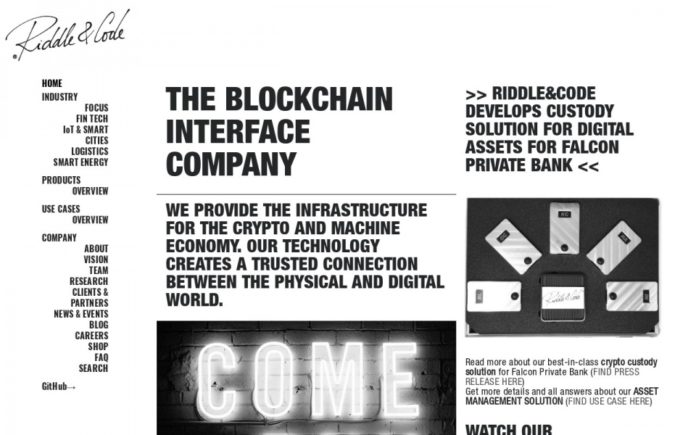 Vienna's RIDDLE&CODE Builds Rock Solid Wallet and Custodial Solution for Swiss Private Bank