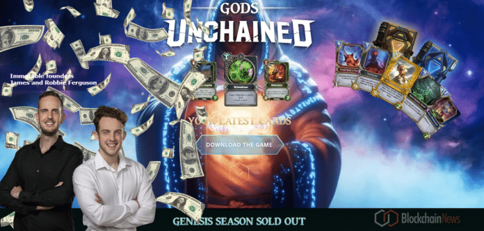 Blockchain Gaming Project Immutable Sells out US$6.2 Million Genesis Sale
