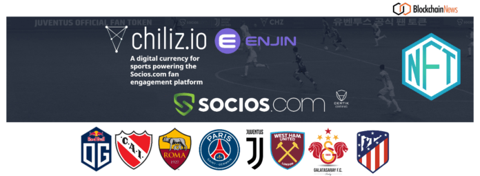 Chiliz And Enjin To Launch Blockchain Collectibles Using NFTs For The Likes of Juventus, Paris Saint-Germain, Atlético de Madrid and West Ham