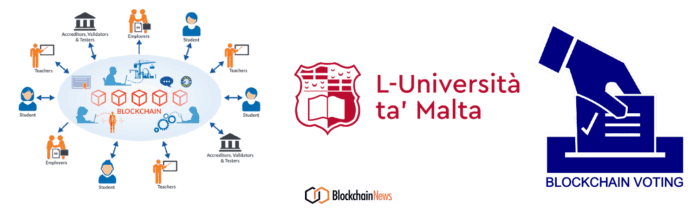 Malta, university, blockchain, voting, ledger, distributed