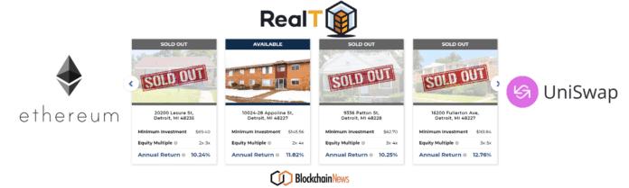 Realt, realtoken, uniswap, exchange, realestate, fractional, invest