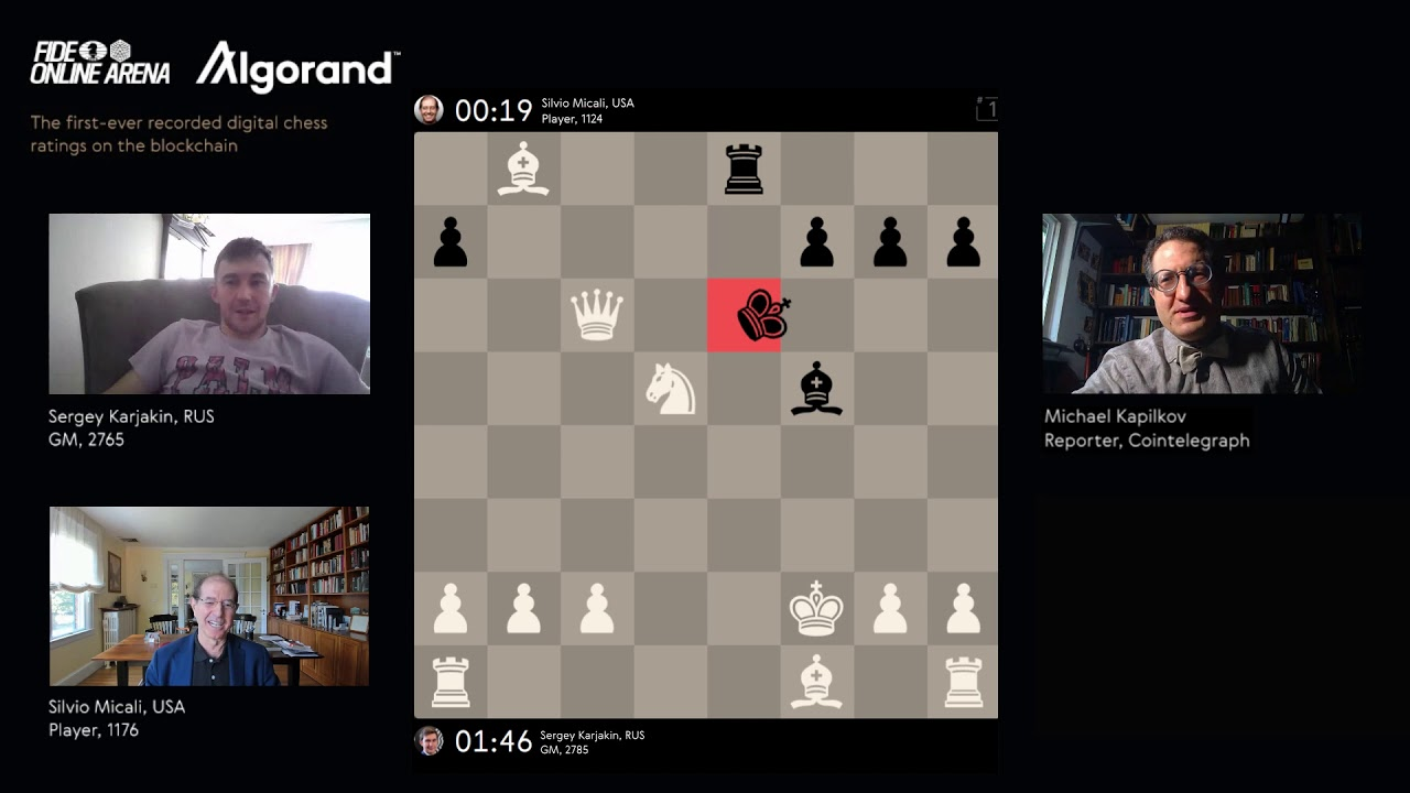 Digital Chess Game Giant FIDE Online Chooses Algorand Blockchain For Official Chess Ratings
