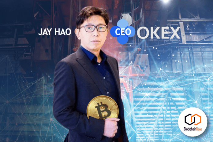 Jay Hao, OKex, CEO, cryptocurrency, exchange, crypto, tokens, trade, bitcoin, ethereum,