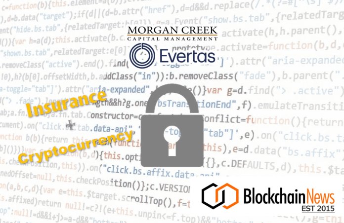 evertas, morgan creek, vc, round, seed, equity, insurance, cryptocurrency, digital assets, cryptoassets,