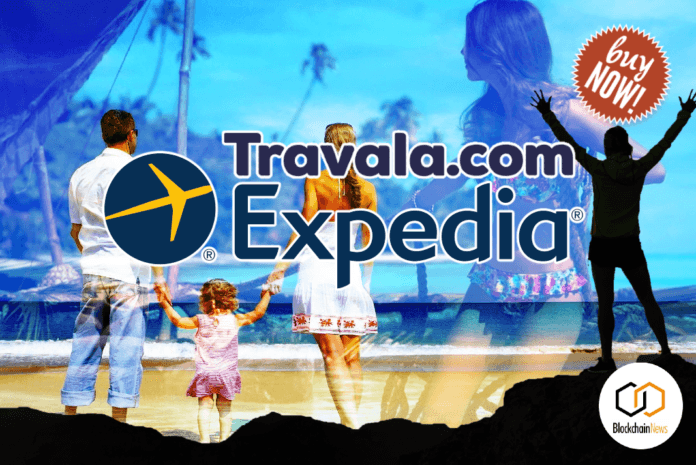 expedia, travala, cryptocurrency, travel, tourism, blockchain, crypto,