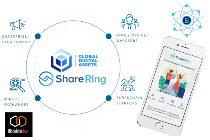 sharering, GDA, Global Digital Assets, cryptocurrency, travel, crypto, blockchain, share, share economy, sharing