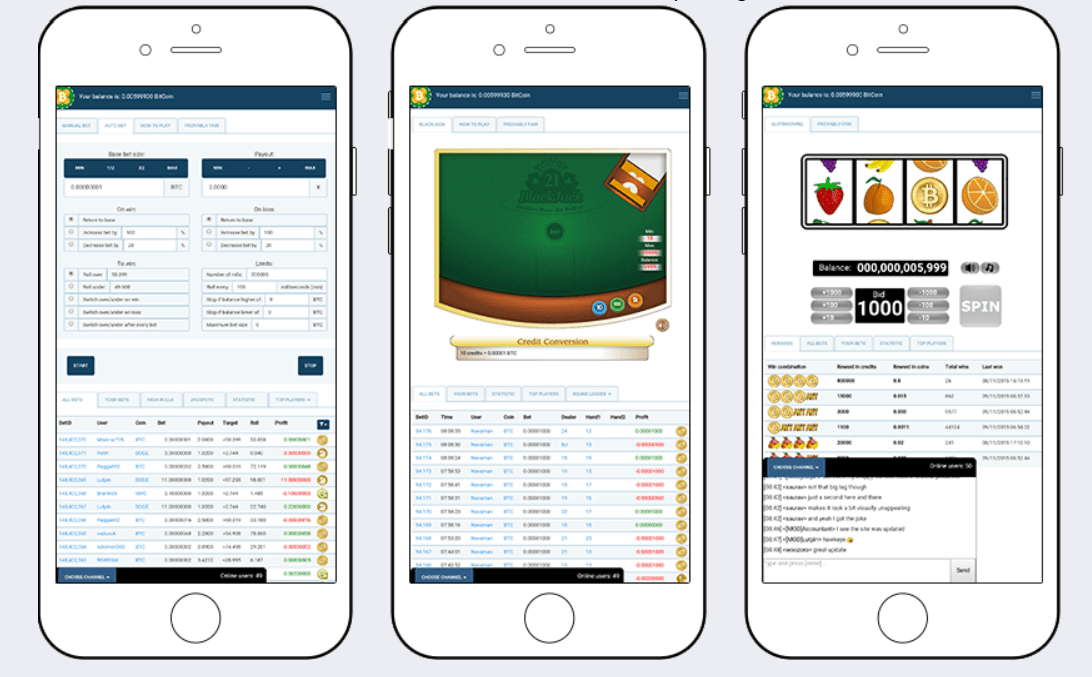 Interface Mobile - CryptoGames Review: A Certified Online Crypto Casino