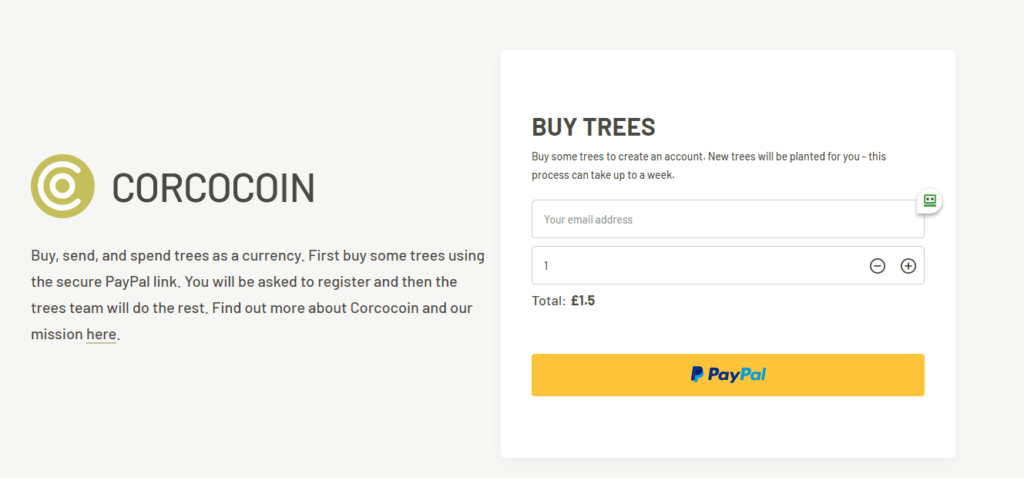 Buy Trees with CorcoCoin