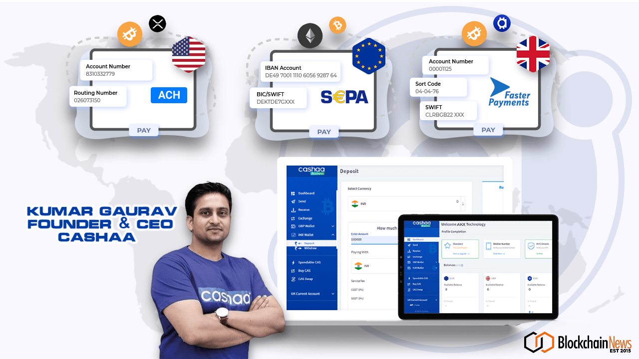 Cashaa Rolls Out The World's First Global Crypto-Friendly Banking Platform – Blockchain News, Opinion, TV and Jobs