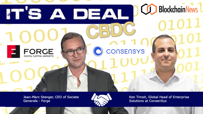 Societe Generale – Forge, ConsenSys, CBDC, Central, Bank, Digital, Currency