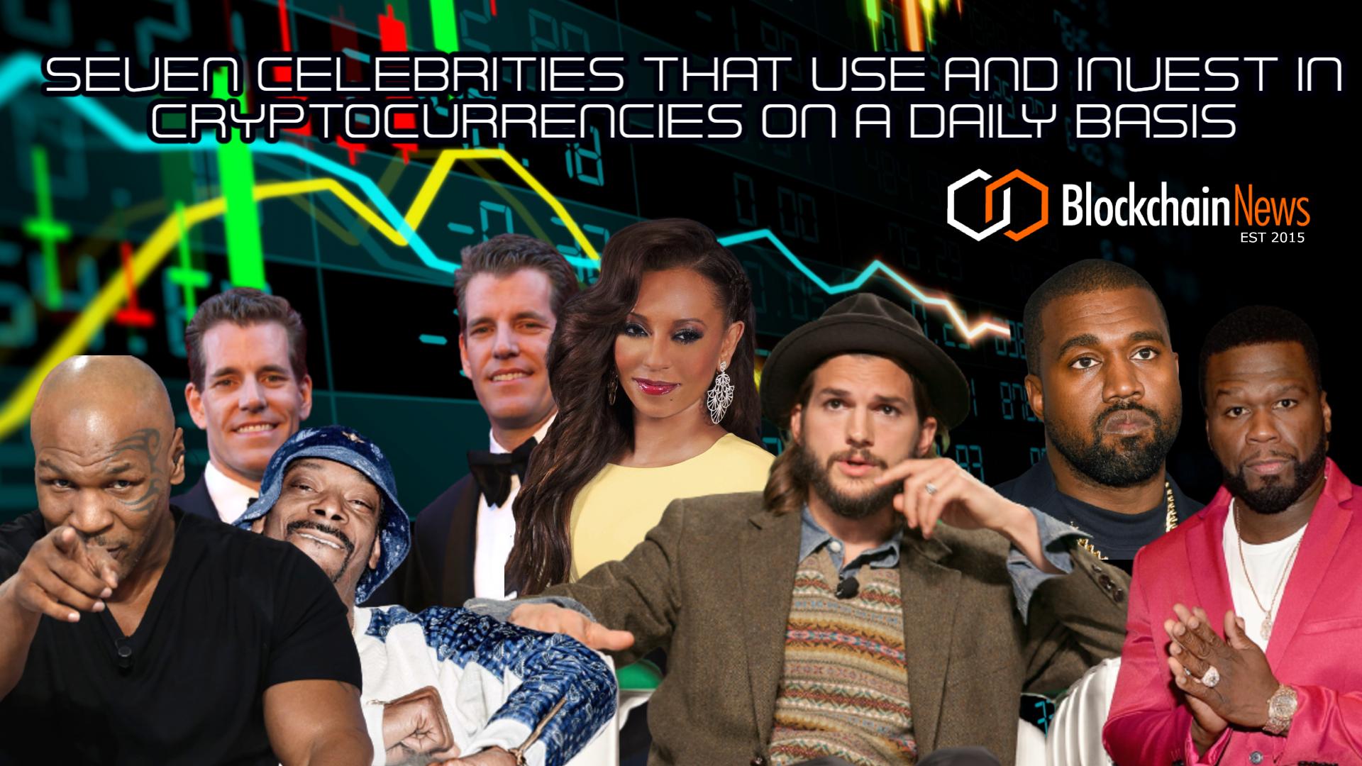 Ashton Kutcher, Cameron and Tyler Winklevoss, 50 Cent, Kanye West, Snoop Dogg, Mel Brown, Myke Tyson
